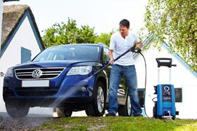 pressure clean your car