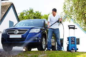 pressure clean your car